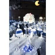 Location vase martini retourné avec roses