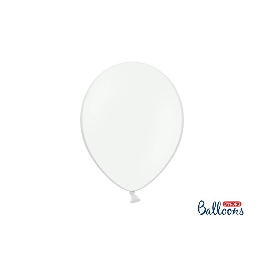 Ballon 30 cm pastel blanc