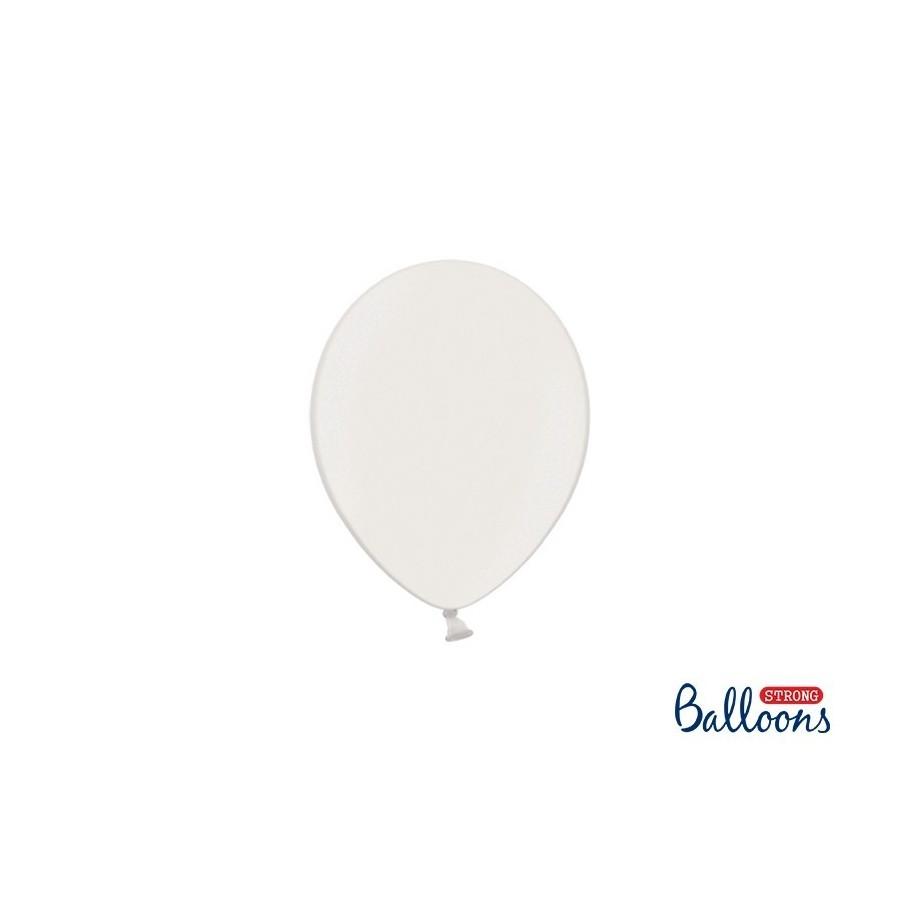 Ballon 12 cm couleur métallique