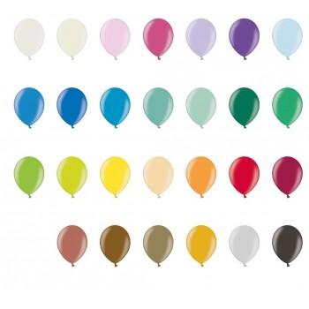 Ballon 23 cm couleur métallique