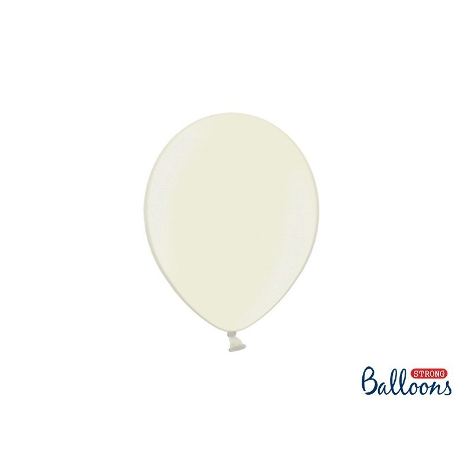 Ballon 23 cm couleur métallique crème