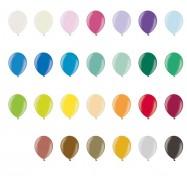 Ballon 30 cm couleur métallique