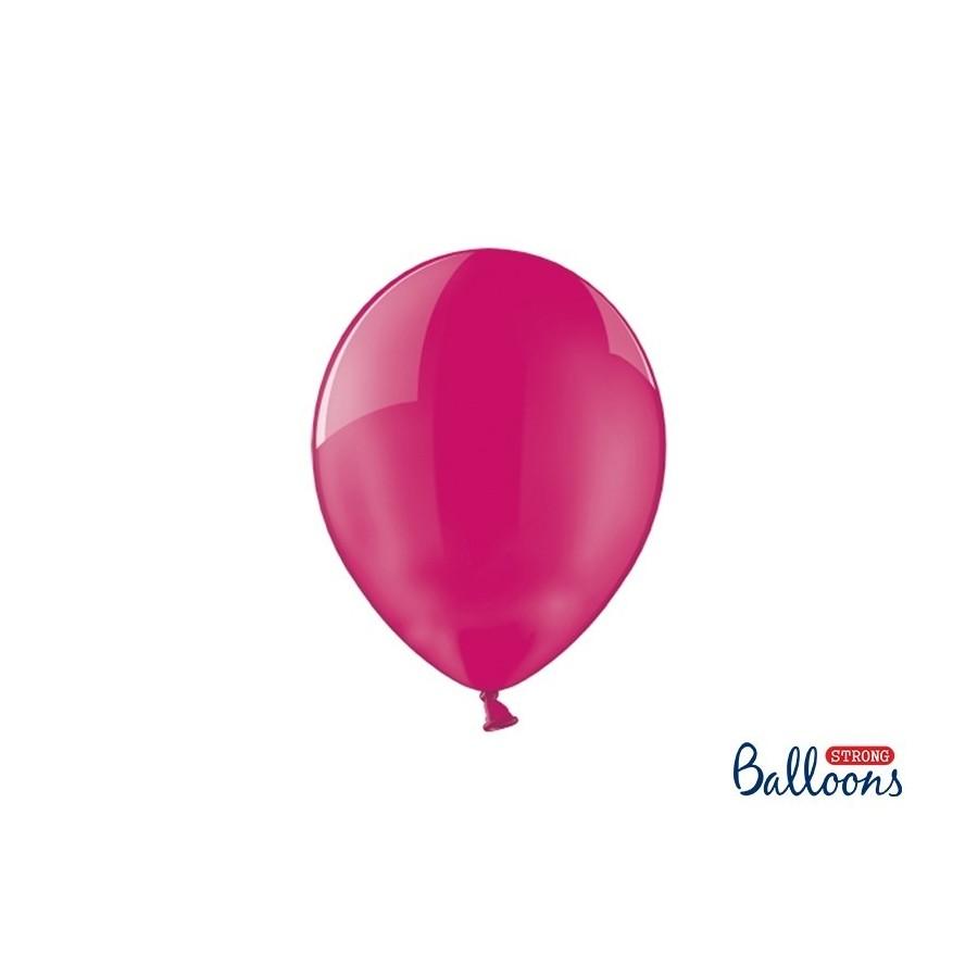 Ballon 27 cm couleur cristal fuchsia
