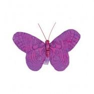 6 papillons fuchsia
