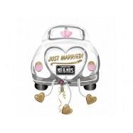 Ballon alumium voiture des mariés