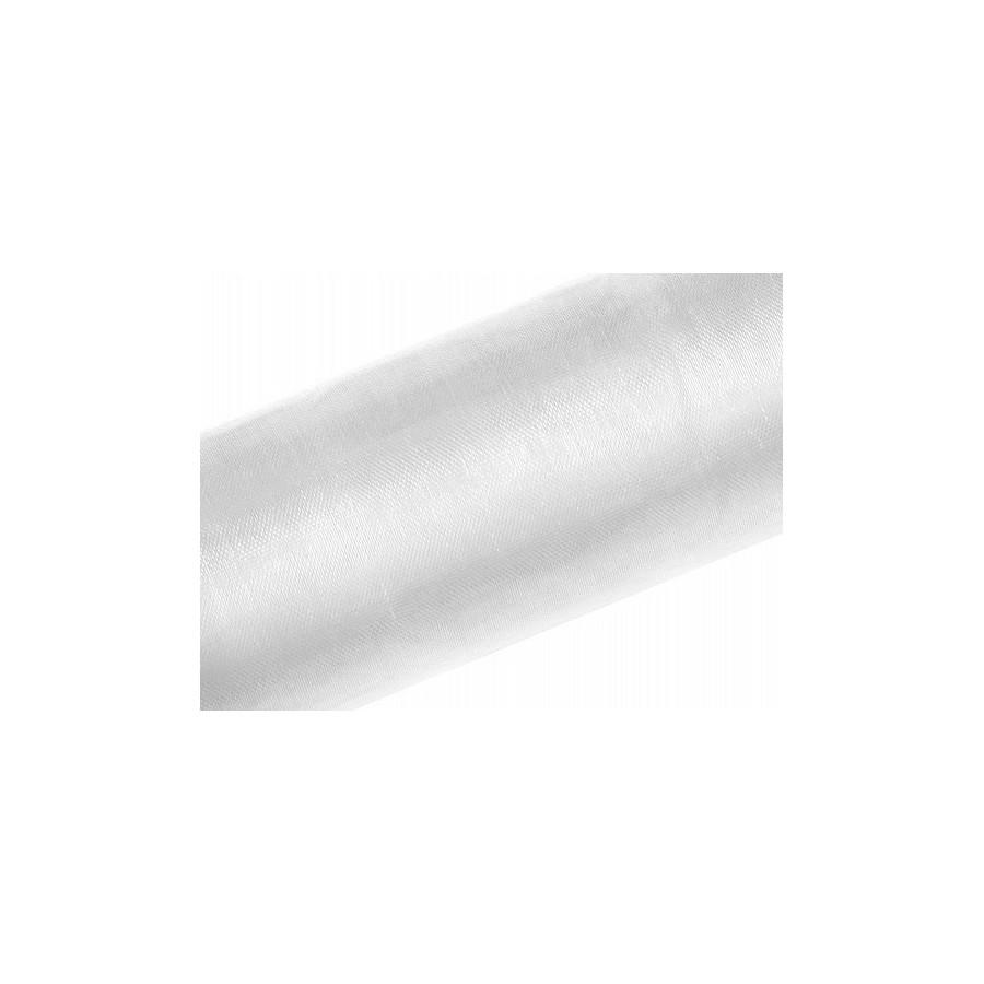 50 m d'organza blanc
