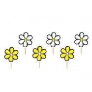 6 piques avec une fleur