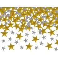 Confettis petites étoiles ors et argents