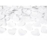 Confettis en forme de coeur blanc (canon 60 cm)