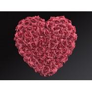Coeur rempli de roses
