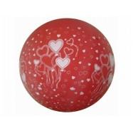 Ballon géant rouge avec des coeurs